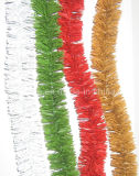 Tinsel Garland with Rigid PVC Material