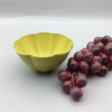 Durable Biodegradable Tableware Flower Shaped Bamboo Fiber Kids Bowl