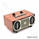 Xm-6c Good Sound Cheap Mini Wooden Wireless Subwoofer Outdoor Speaker with TF Card