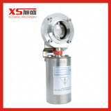 SMS 316L Stainless Steel Pneumatic Butterfly Valve, Welded Ends 38.1mm for Milk