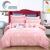 4PCS Polyester Fabric Quilt and Pillow Cover Bed Sheet Sets