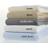 100% Soft Premium Bamboo Cotton Thermal Blanket with Woven Waffle