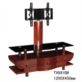 Wall Mount TV Stand Cabinet Glass TV Table with Bracket