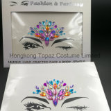 2018 Bling Glitter Eye Skin Sticker Adhesive Acrylic Gem Crystal Diamond Chest Stickers (E41)
