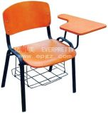 Chrome Frame Student Chair with Big Size Folding Table