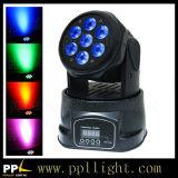 7PCS * 18W 6in1 LED Mini Moving Head Wash Lighting