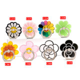 Soft PVC Cute Candy Color Flower Shape Mobile Phone Ring Holder Backet