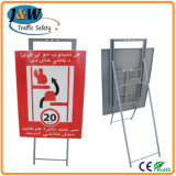 Portable Standing Sign Stand Traffic Safety Sign for Security