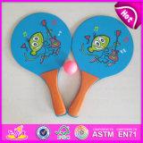 2015 New Arrival Wooden Beach Ball Racket Set, Popular Kid Wooden Beach Tennis Racket, Hot Selling Wooden Beach Racket Set W01A095