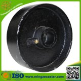 Black Painted Cast Iron Steel Wheels with Roller Bearing