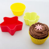 No-Toxic Food Grade Silicone Mold Heart-Shape Star-Shape Mold for Cake