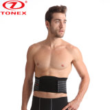 Stabilizing Black Waist Belt with Dual Adjustable Straps and Breathable Mesh