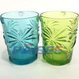 Pattern Colored Classical Glassware Embossed Wine Glass