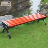 Cheap Waterproof Park Seating Long Backless 3 Seat Wooden Bench