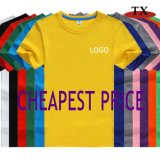 Free Sample Shirt Cheapest Price Clothing Wholesale Round Neck T Shirt