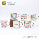 Good Quality Porcelain Tea Coffee Cup Ceramic Mug with Customized Logo Gold Hand From China