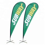 Outdoor 3m Double-Sided Advertising Feather Flag