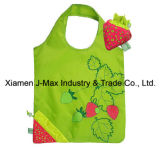 Foldable Shopper Bag, Fruits Strawberry Style, Reusable, Lightweight, Grocery Bags and Handy, Gifts, Promotion, Tote Bags, Accessories & Decoration