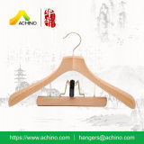 Customized Wooden Suit Hangers with Golden Hook