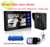 Wired Video Door Phone Doorbell with ID Card, Remote Key, Intercom Function