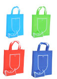 Colorful Non Woven Foldable Shopping Bags in Promotion