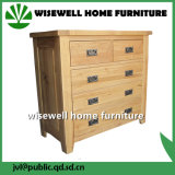 Oak Wood 2+3 Drawer Cabinet Living Room Cabinet (W-CB-506)