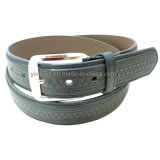 2016 New Arrival Embossing Pattern Fashion PU Leather Belt Men