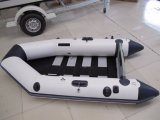2.3m PVC Inflatable Boat Rowing Boat Sport Boat with Aluminum Floor Ce