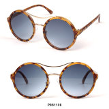 New Fashion Round Women Sunglasses with Double Bridge