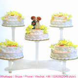 White Acrylic Stand for Cake Decoration