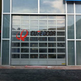 Aluminum Commercial Frosted Sectional Glass Garage Door