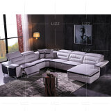 Modern Home Sectional Furniture Italian Leather Living Room Electric Recliner Sofa
