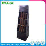 Folded Cardboard Floor Security Display Stand Make up Display Holder