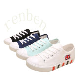 New Hot Sale Vulcanized Women′s Casual Canvas Shoes