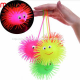 Novlety TPR Light up Puffer Ball Soft Plastic Flashing Yoyo Ball Toy