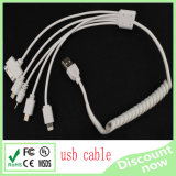 5 in 1 USB Cable White