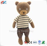 Stuffed Animals Toys Teddy Bear Plush Dressed Dolls with Removable Clothes (DOT Black, 14 Inch)