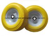 13X5.00-6 Yellow PU Foam Beach and Fishing Cart Wheels