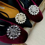 Elegant Crystal Glass Shoe Ornaments for Women Shoes