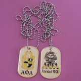 Fraternity and Sorority Founded 110 Years Promotional Gifts Dog Tag Necklace