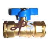 Brass Straight Water Meter Ball Valve for HDPE Pipe