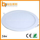 ODM Factory LED Light Silver/White 24W Round Ultrathin Panel Fixture Lighting