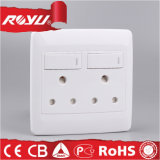 Double Gang 15A Switched Socket SABS Approval