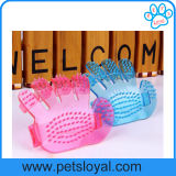 Bath Massage Dog Bath Plastic Pet Grooming Glove Brush (HP-500)