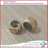 Nylon Loking Nut Yellow Color Zinc Plated 4.8gr