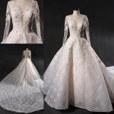 Prom Evening Pearls Lace Train Wedding Bridal Dress Gowns 2019 Wgf1728
