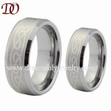 Laser Engraved Tungsten Ring Tungsten Wedding Ring for Lovers