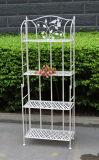 Popular Shabby Chic Anti White 4-Tier Metal Garden Shelf Outdoor Plant Stand (PL08-7082)