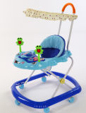 2020 Hot Cheap Plastic Cheap Baby Products Toys Baby Walker with Push Bar and Canopy