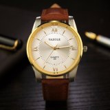 H348 Wholesale Price Men Watch Luxury Genuine Leather Business Watch for Men